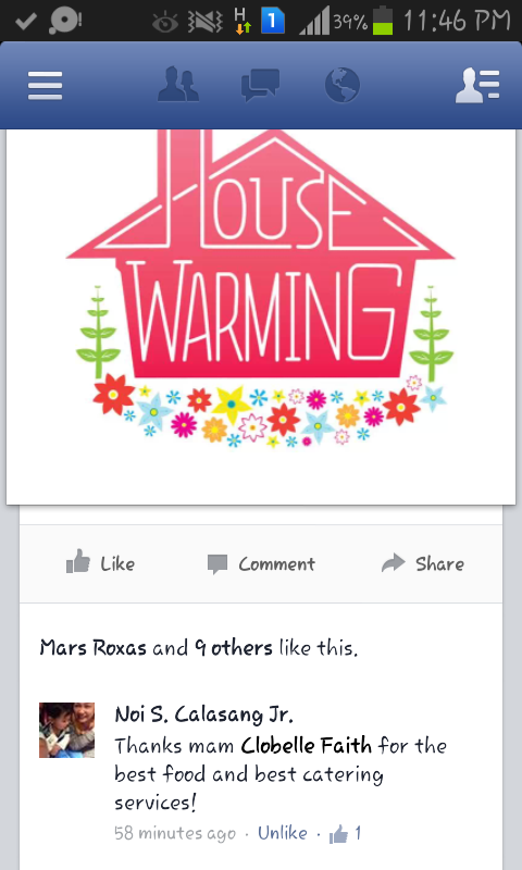 house warming testimonial for FMC catering services